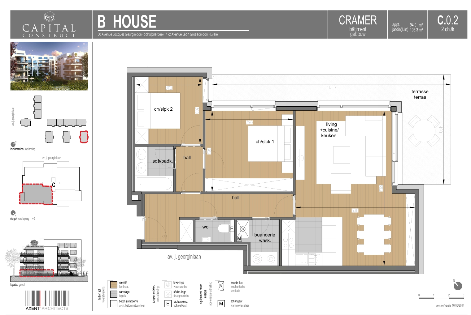 Evere - appartement 2 chambres - Cramer | Capital Home